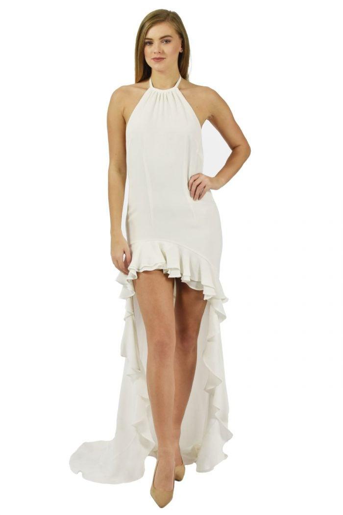 Ivory Open back wedding dress