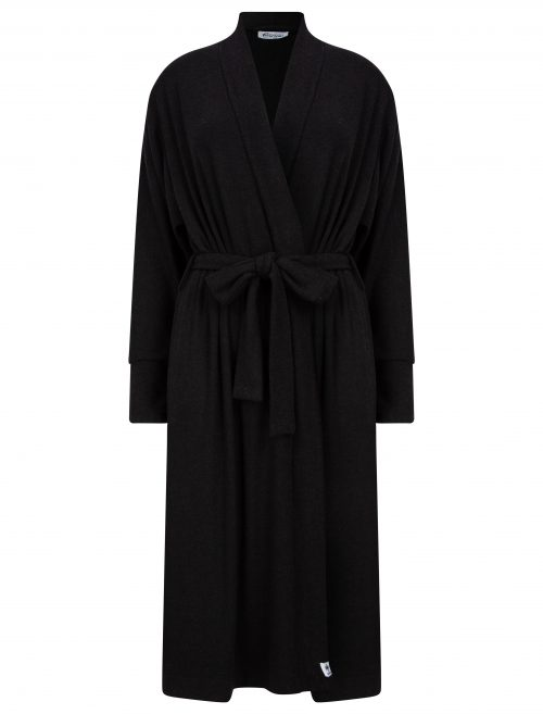 Slip on gown in black