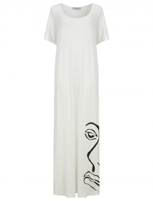T-shirt maxi dress in ivory