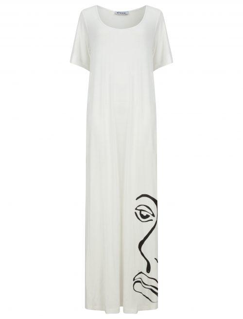 T-shirt maxi dress in ivory