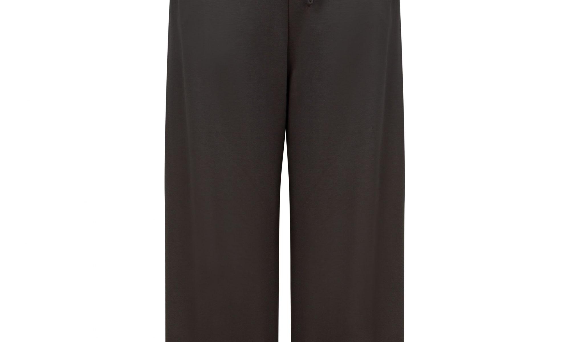Wide leg trousers in dark grey