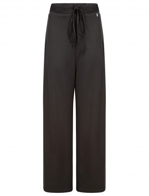 Wide leg trousers in dark grey