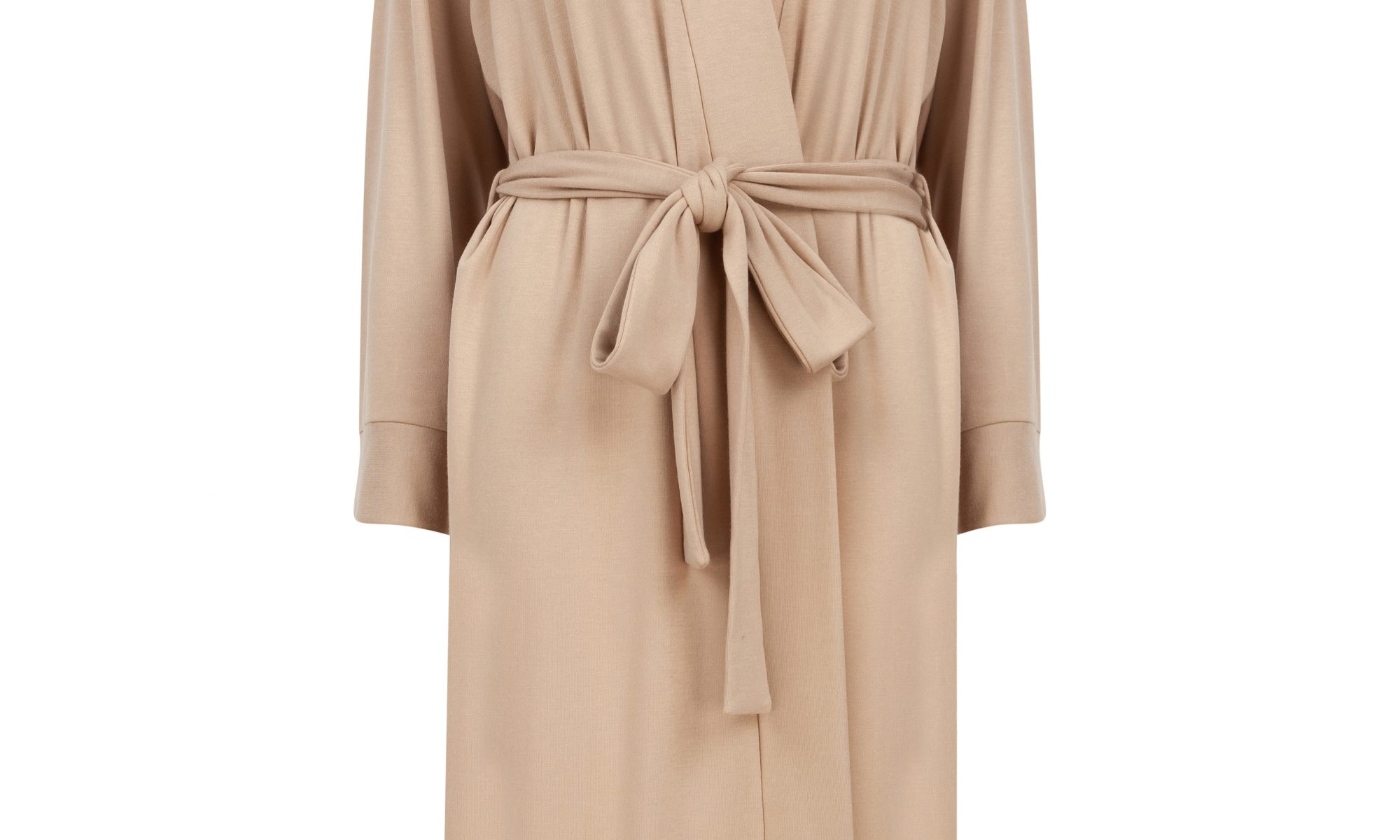 Slip on gown in sand beige