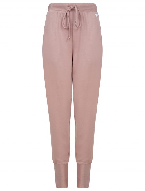 pencil joggers in dusty pink
