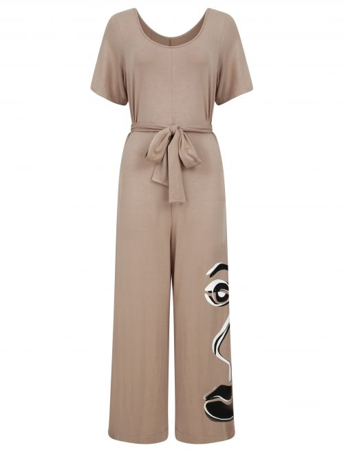 jumpsuit in sand beige